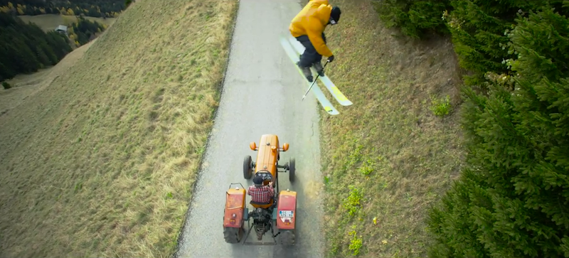 Cool Stuff: Candide Thovex Skis Grass